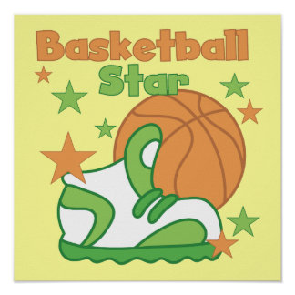 Basketball Star Shoe T-shirts and Gifts Poster