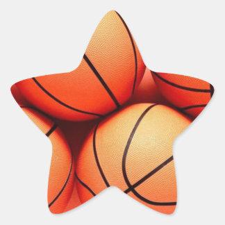 Basketball Star Star Sticker