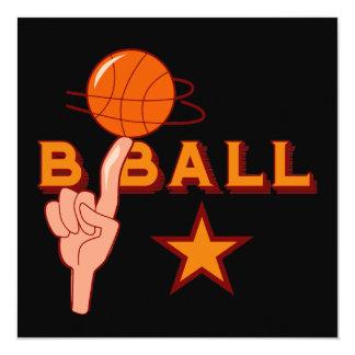 Basketball Star T-shirts and Gifts Invitation
