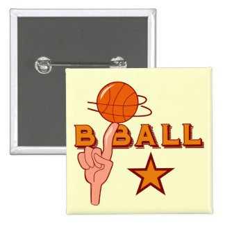 Basketball Star T-shirts and Gifts Pinback Button