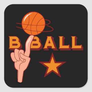 Basketball Star T-shirts and Gifts Square Sticker