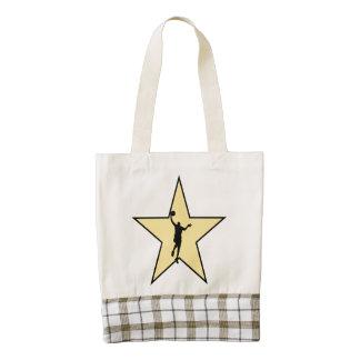 Basketball Star Zazzle HEART Tote Bag