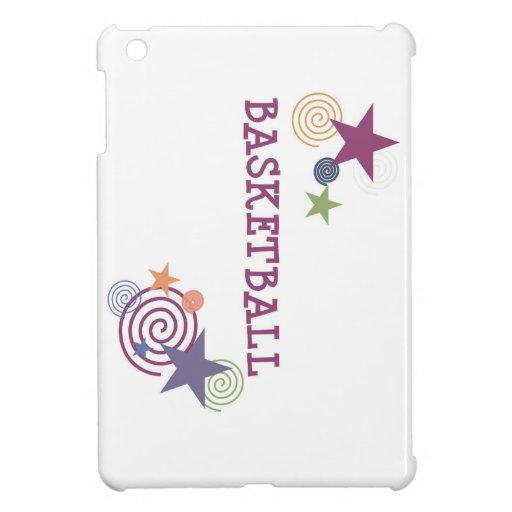 Basketball Stars and Swirls iPad Mini Covers
