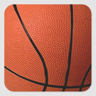 Basketball Square Stickers