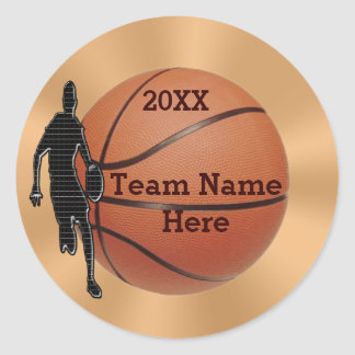 Basketball Stickers for Guys, YEAR and TEAM NAME