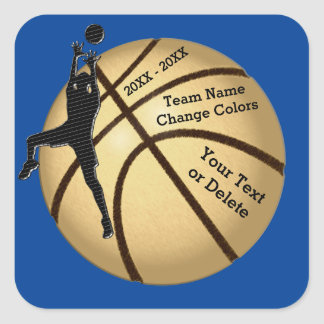Basketball Stickers in YOUR COLORS and 3 TEXT