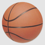 Basketball Stickers, to Hand Write NAMES, NUMBERS Classic Round Sticker