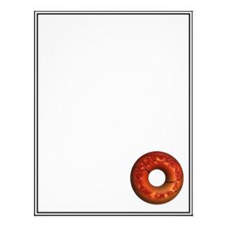 Basketball Style Chocolate Sprinkled Donut Letterhead