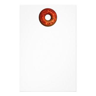 Basketball Style Chocolate Sprinkled Donut Personalized Stationery