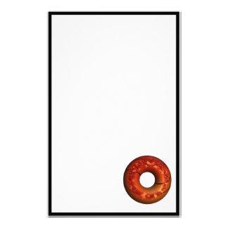Basketball Style Chocolate Sprinkled Donut Customized Stationery