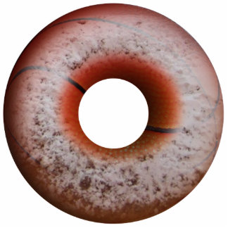 Basketball Style Powdered Donut Acrylic Cut Outs