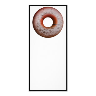 Basketball Style Powdered Donut Custom Rack Card