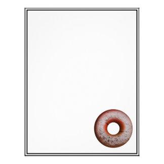 Basketball Style Powdered Donut Customized Letterhead