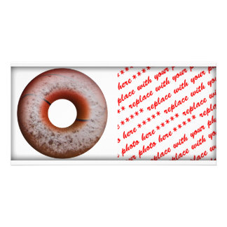 Basketball Style Powdered Donut Photo Card Template