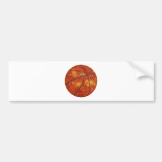 Basketball Sun Bumper Sticker