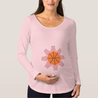 Basketball Sun Maternity T-Shirt