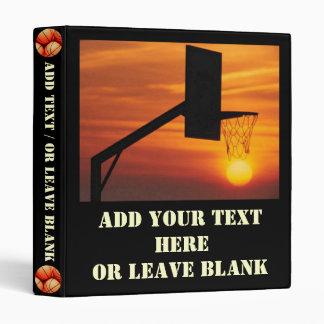 Basketball Sunset Binder