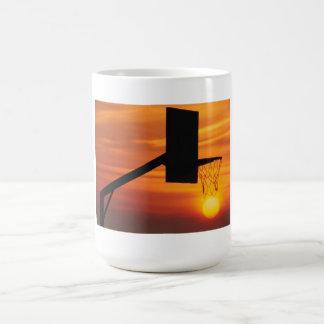 BASKETBALL SUNSET COFFEE MUG
