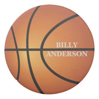 Basketball Super Fan Ball Monogram Eraser