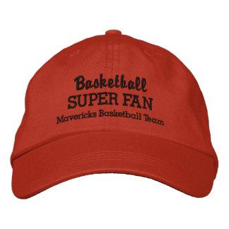 Basketball Super Fan Custom Sports Team Embroidered Baseball Cap