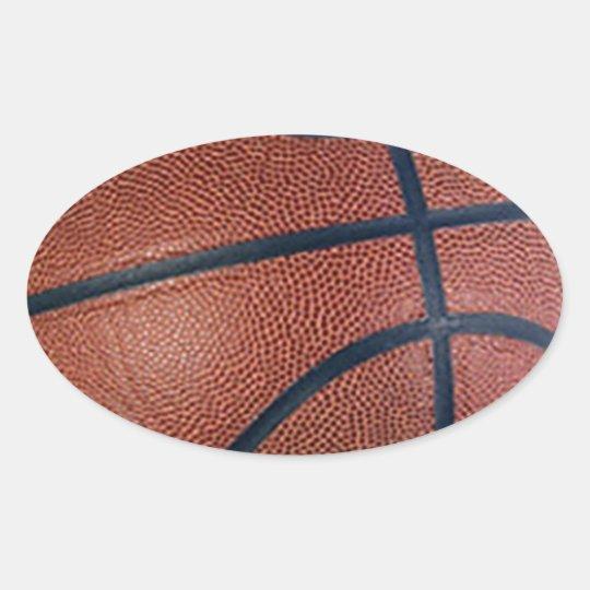 Basketball Superstar Oval Sticker