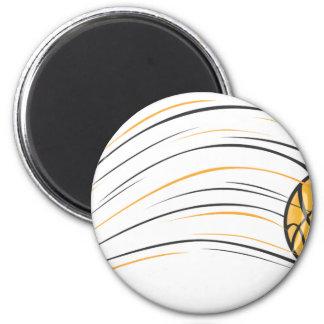 Basketball Swish 2 Inch Round Magnet