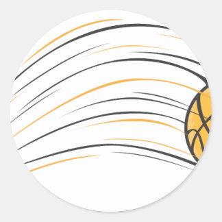 Basketball Swish Classic Round Sticker