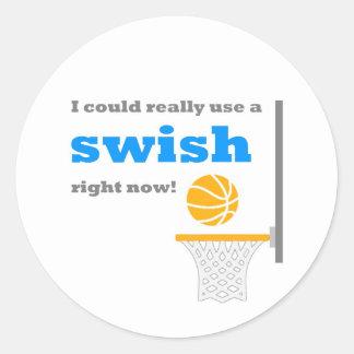 Basketball Swish Sticker