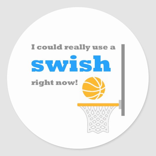 Basketball Swish Sticker