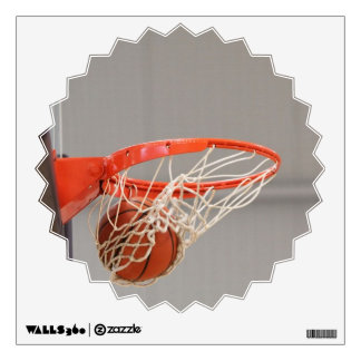Basketball Swishing in the Net Wall Decal