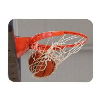 Basketball Swishing Through the Net Flexible Magne Rectangular Photo Magnet