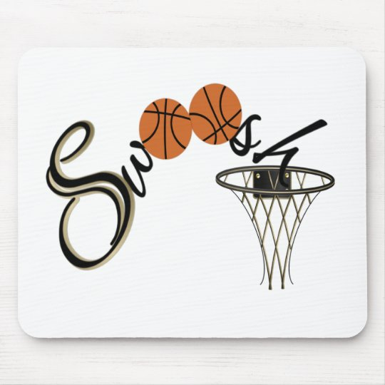 Basketball Swoosh Mouse Pad