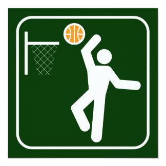 Basketball Symbol Invitation