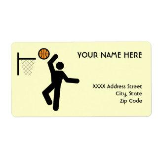Basketball Symbol Label