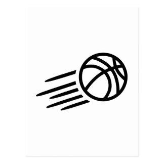 Basketball symbol postcard