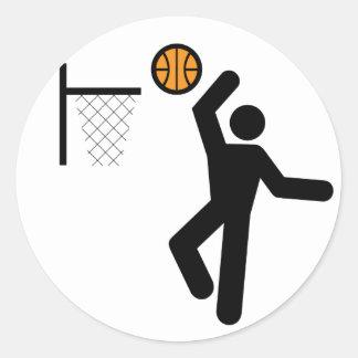 Basketball Symbol Sticker