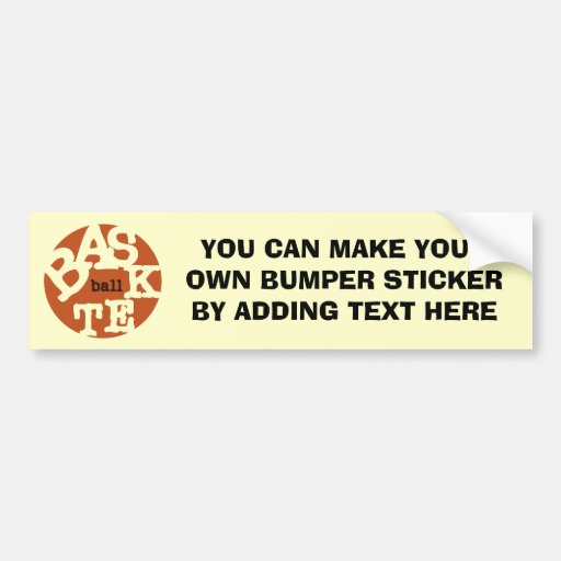 BASKETball T-shirts and Gifts Bumper Sticker