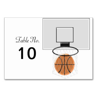 Basketball Table Cards