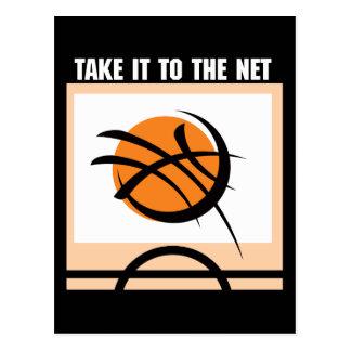 Basketball Take It To The Net Postcard
