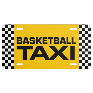Basketball Taxi License Plate