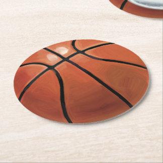 Basketball Round Paper Coaster
