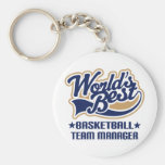 Basketball Team Manager Gift Basic Round Button Keychain
