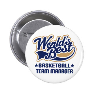 Basketball Team Manager Gift Button