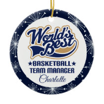 Basketball Team Manager Gift Ceramic Ornament