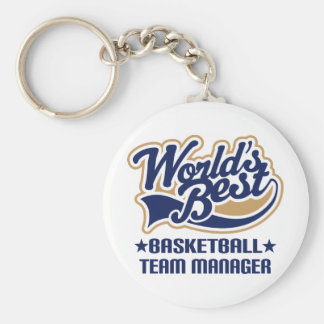 Basketball Team Manager Gift Keychain