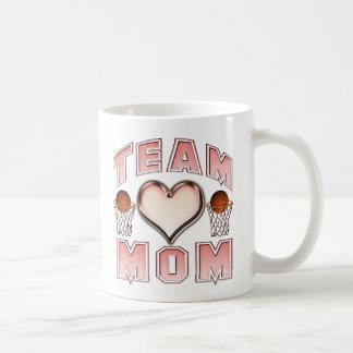 Basketball Team Mom Classic White Coffee Mug