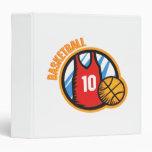 Basketball Team Vinyl Binders