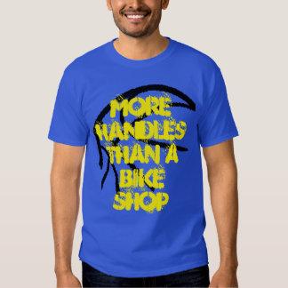 Basketball Tee- More Handles Than A Bike Shop-Blue Shirts