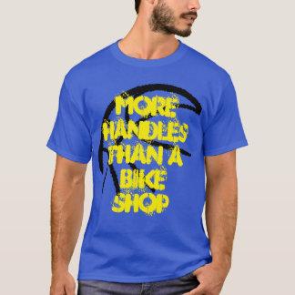Basketball Tee- More Handles Than A Bike Shop-Blue T-Shirt