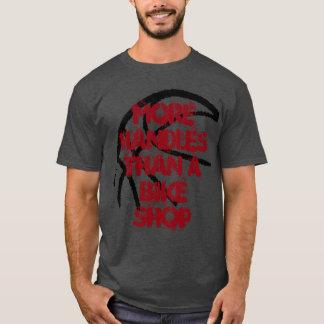 Basketball Tee- More Handles Than A Bike Shop-Grey T-Shirt